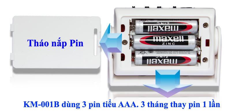 Pin sử dụng cho KM-001B