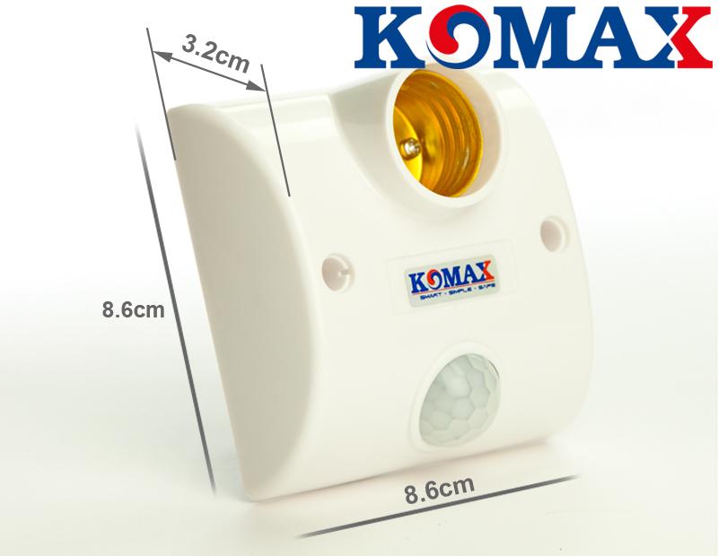 Kích thước của đuôi đèn cảm ứng hồng ngoại KM-S15