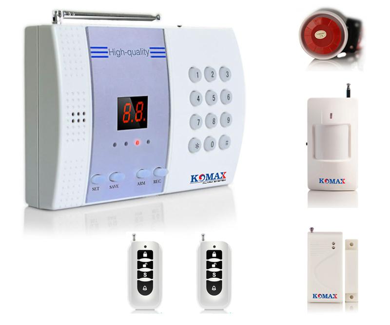 Trọn bộ trung tâm chống trộm Komax KM-800P