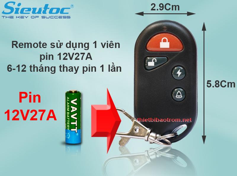 Pin dùng cho remote của KM-T55