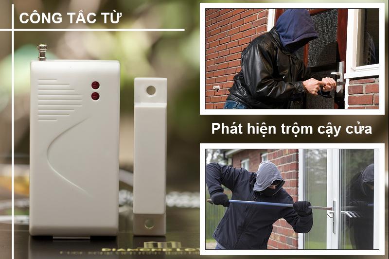 Cách gắn công tắc từ chống trộm KM-T60