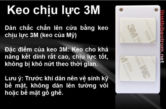 Chống trộm KM-C03 sử dụng keo chịu lực 3M