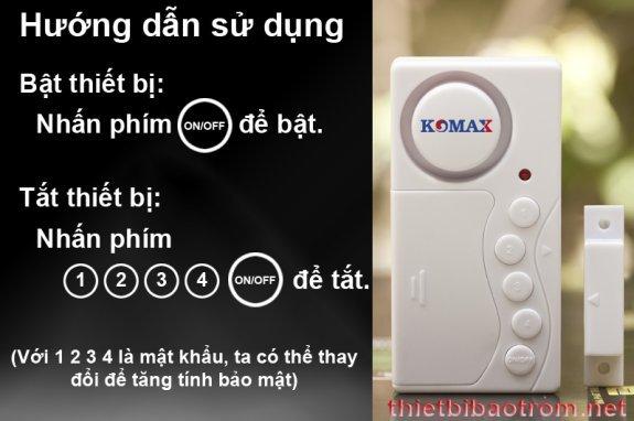 Cách sử dụng chống trộm KM-C03