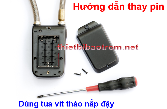 Cách gắn pin cho khóa dây báo động Y-787