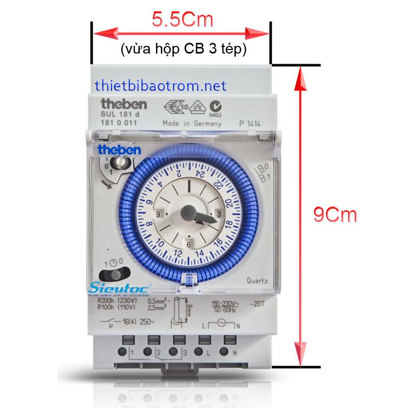 Kích thước của timer theben SUL 181d