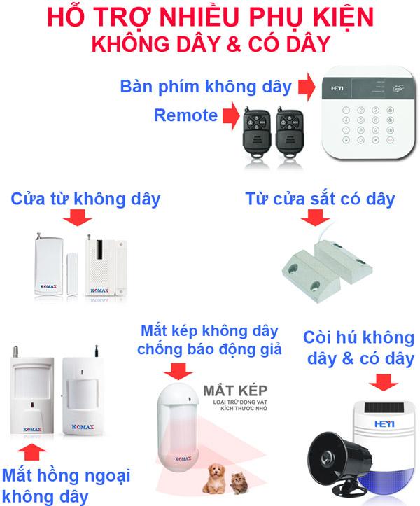 Khả năng kết nối với phụ kiện của KM-998G