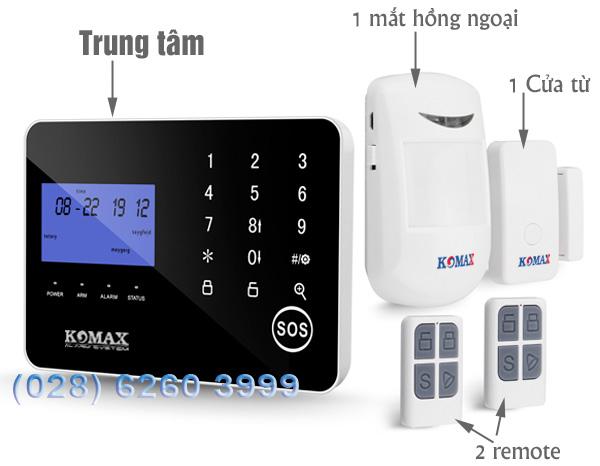 Trung tâm chống trộm KM-900GS và phụ kiện