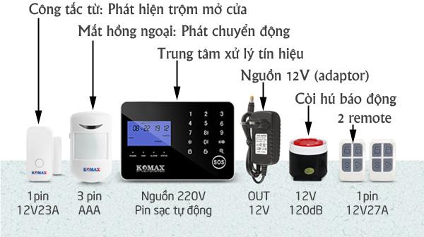 Pin sử dụng cho bộ chống trộm KM-900GS