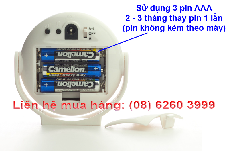 Thời gian dùng pin của báo khách KM-002B