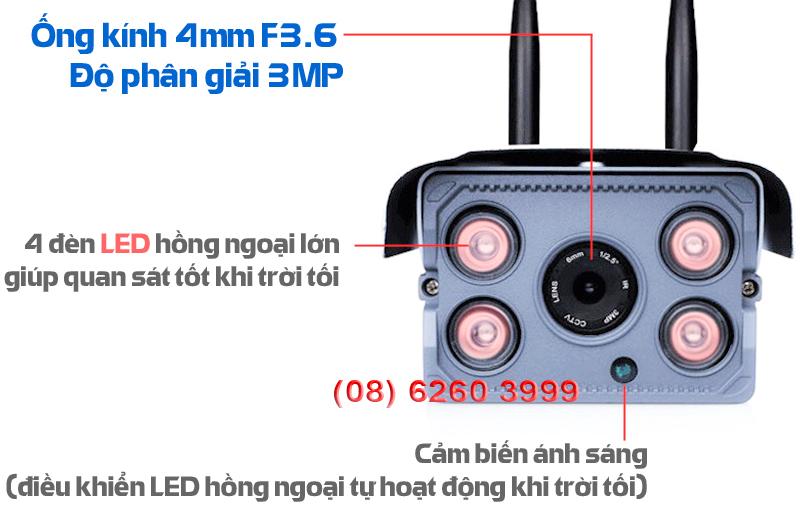 camera không dây ngoài trời chuẩn HD KM-W6