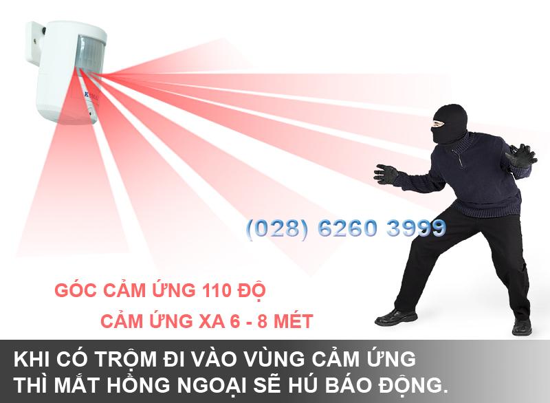 Nguyên lý hoạt động báo trộm hồng ngoại KM-X20