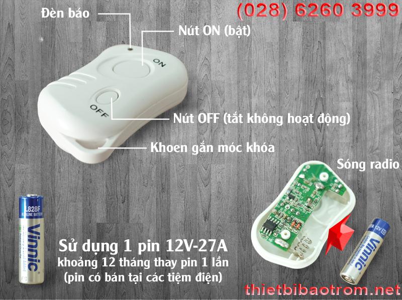 Remote điều khiển của báo trộm hồng ngoại KM-X20