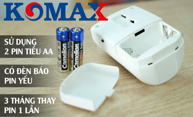 Cách thay pin cho báo trộm cao cấp KM-X20