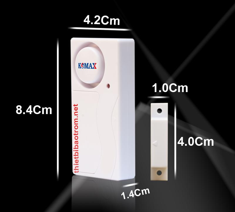 Kích thước cảm biến chống cạy chống đập cửa KM-RC25