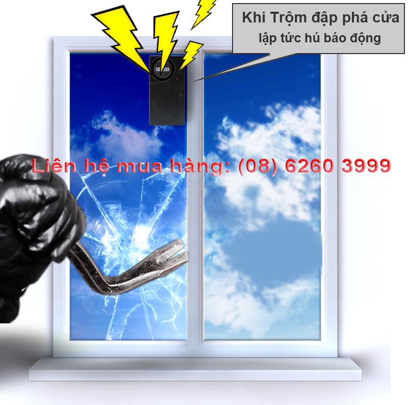 Báo rung chống trộm KM-R16 bảo vệ cửa kiếng