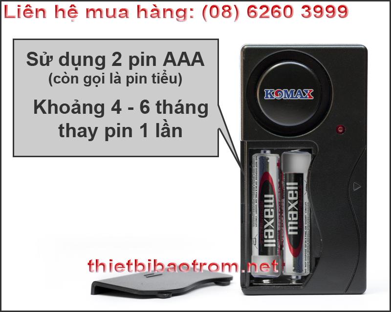 Pin dùng cho cảm biến rung KM-R16