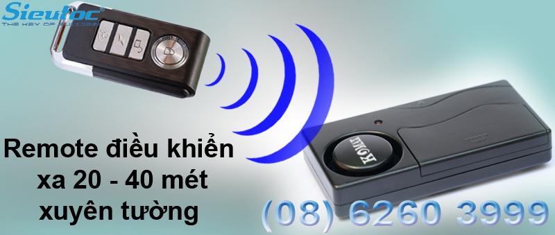 Cảm biến rung báo trộm KM-R16 kèm remote