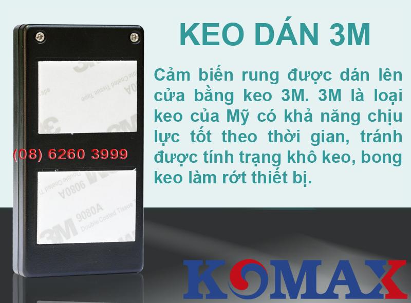 KM-R16 sử dụng keo chịu lực 3M để dán sản phẩm