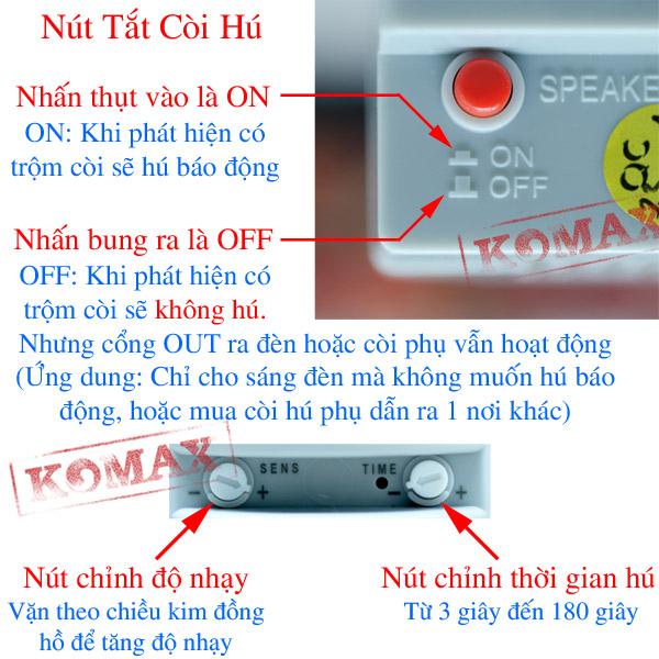 Các phím chức năng của chống trộm HT1A