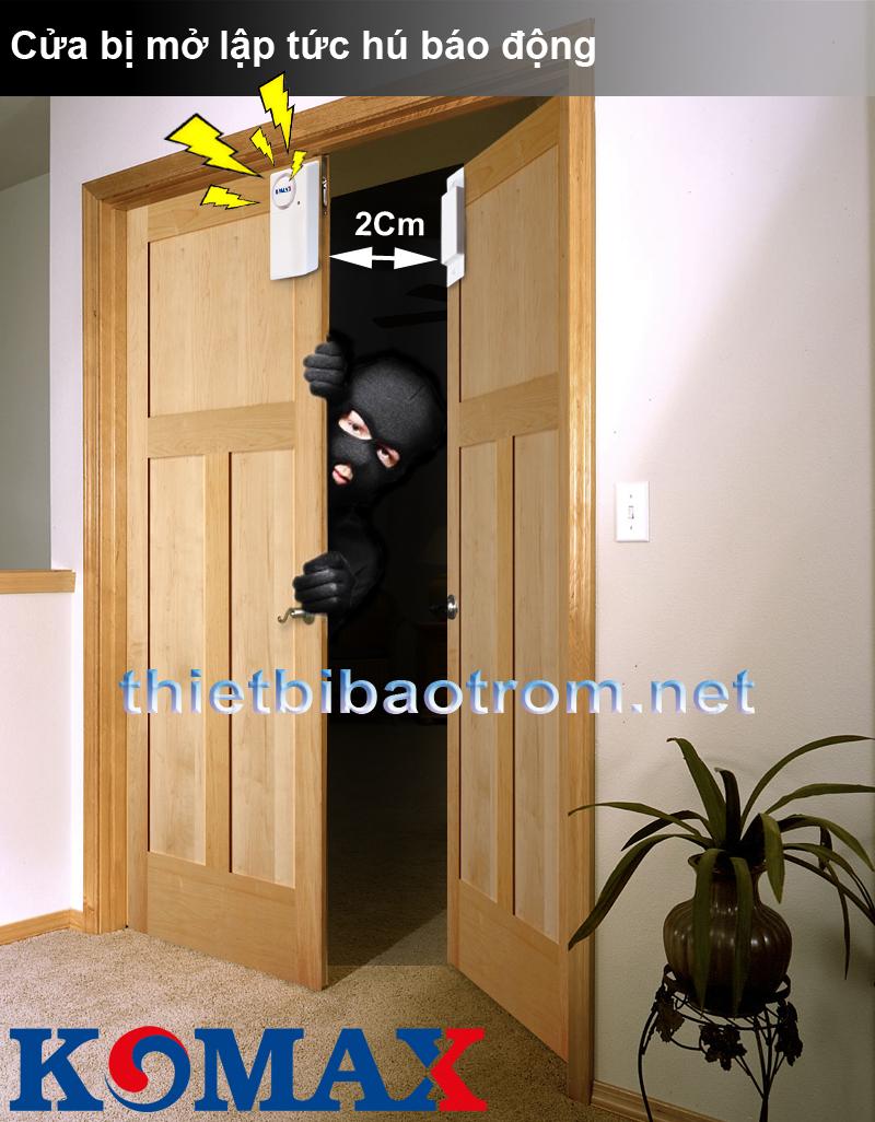 Cách lắp đặt từ gắn cửa chống trộm KM-C05