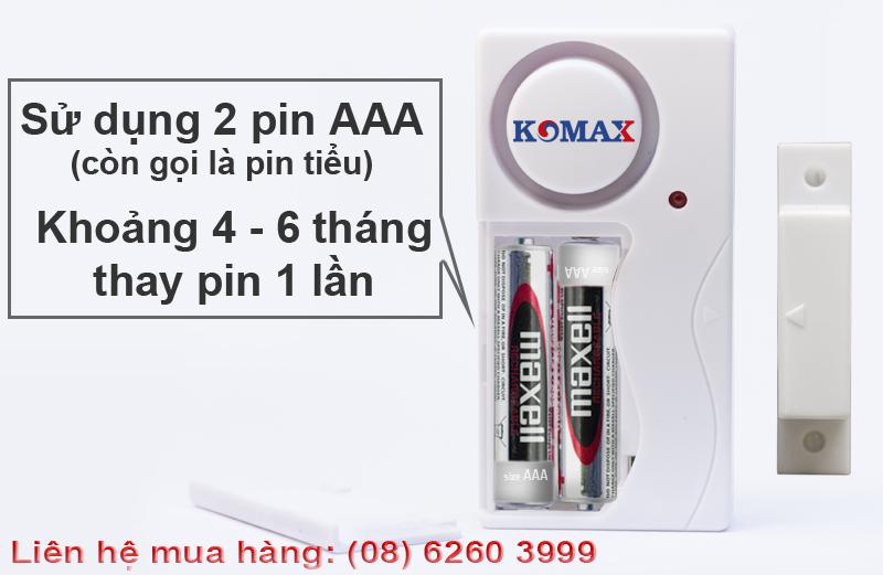 KM-C05 sử dụng pin tiểu 3A
