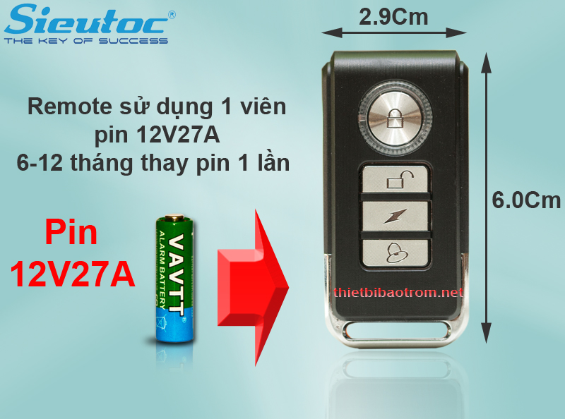 Pin dùng cho remote của KM-RC25