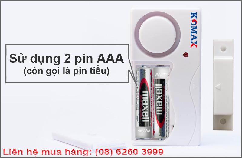 Pin sử dụng cho cảm biến rung báo trộm KM-RC25