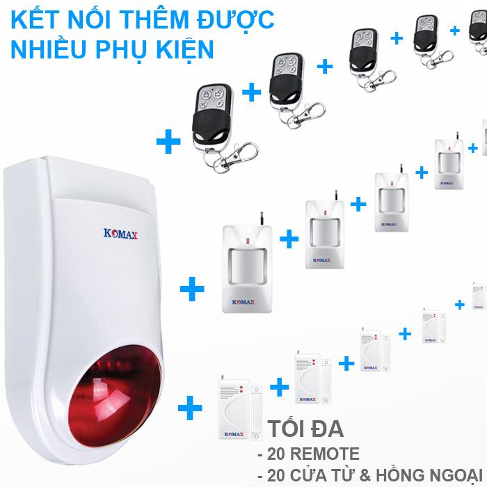 Khả năng kết nối với phụ kiện của bộ chống trộm KM-T80