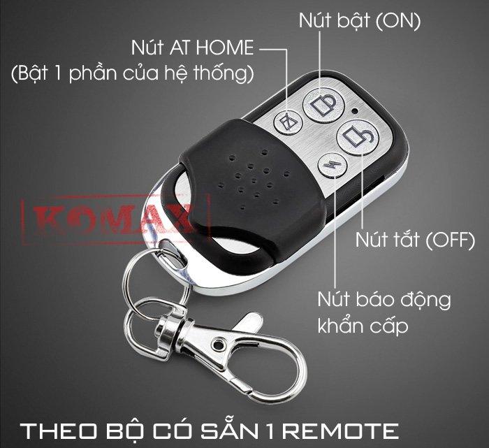 Remote của trung tâm chống trộm KM-T80