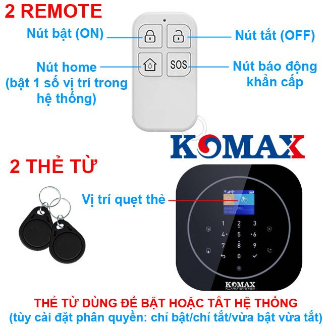 Chức năng của remote đi kèm chống trộm KM-G20
