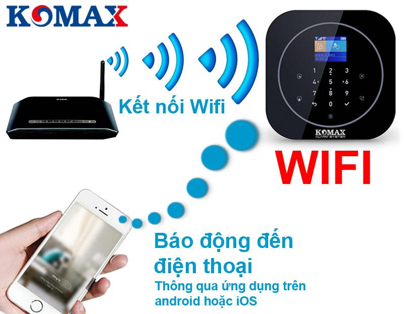 Trung tâm chống trộm KM-G20 kết nối với wifi