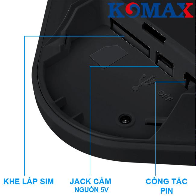 Các khe kết nối của trung tâm chống trộm KM-G20
