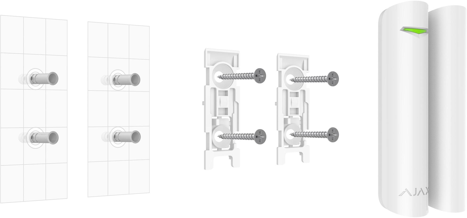 Cảm biến cửa từ thông minh AJAX gồm 2 bộ phận (Cảm biến và Nam châm) dùng để gắn ở cửa chính ra vào, cửa sổ hoặc cửa kính…