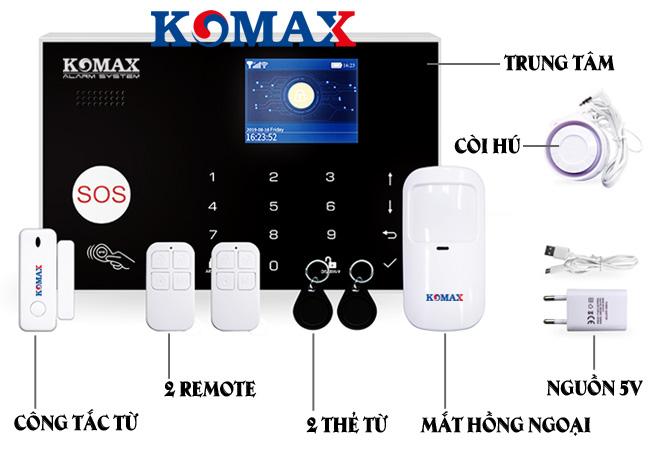Mặt trước trung tâm chống trộm dùng sim wifi KM-G30