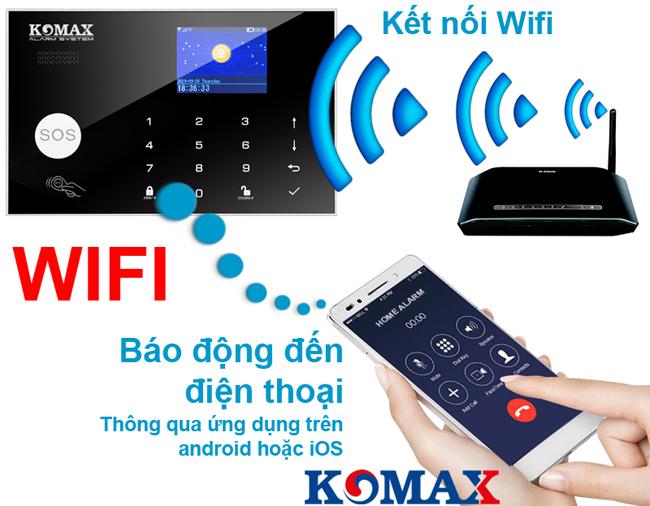 Trung tâm chống trộm KM-G30 kết nối với wifi