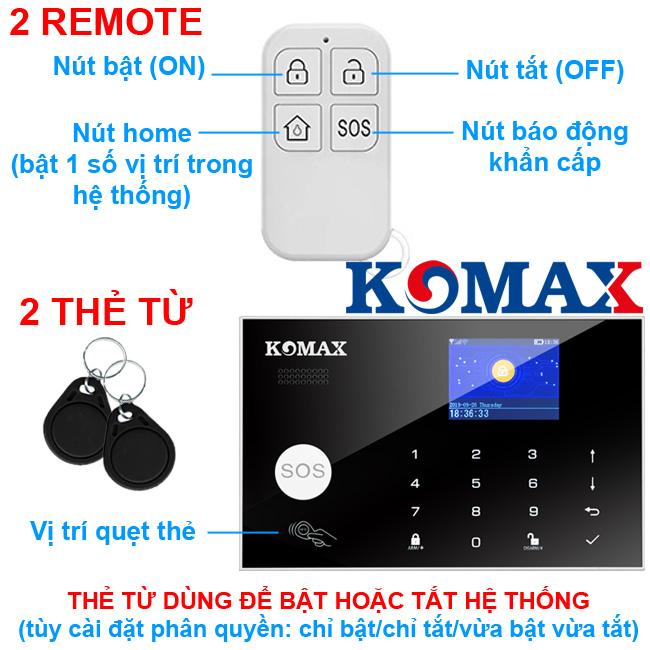 Remote dùng cho trung tâm chống trộm KM-G30