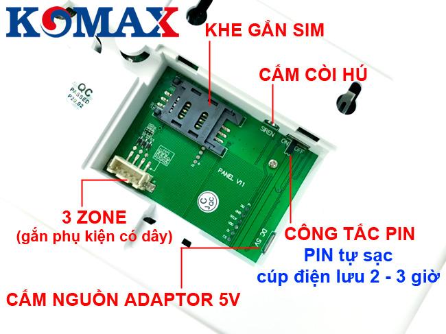 Khả năng kết nối của báo trộm wifi KM-G30