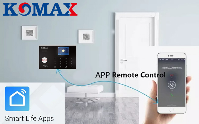App điểu khiển trung tâm chống trộm KM-G30