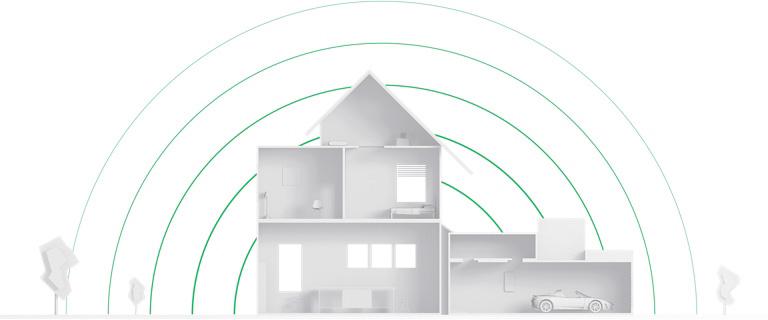 Khoảng cách truyền tín hiệu của các cảm biến ajax lên tới 2000m, giúp bảo vệ toàn diện ngôi nhà của bạn