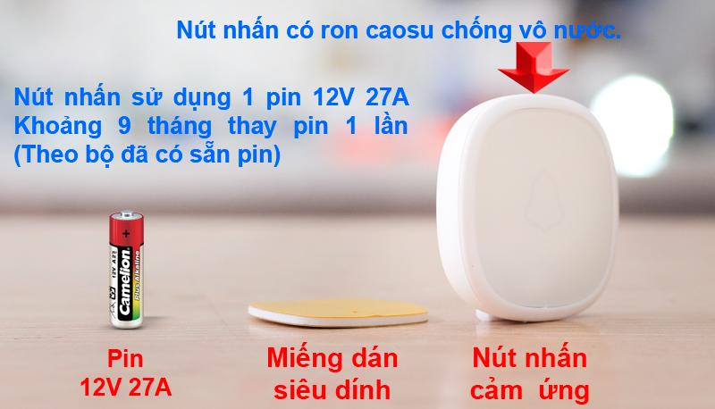 Nút nhấn dùng chung với chuông cửa KM-B02