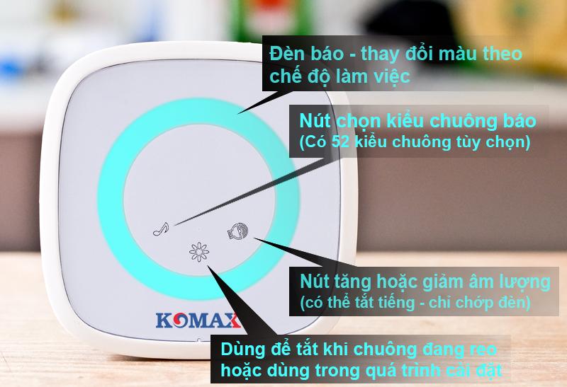 Các chức năng của chuông cửa KM-B02