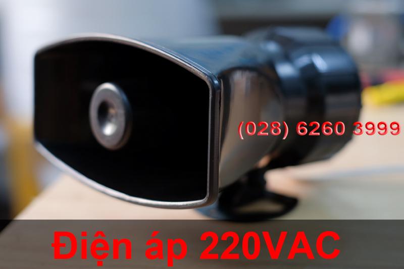 Còi hú KM-AC100W dùng nguồn trực tiếp 220V