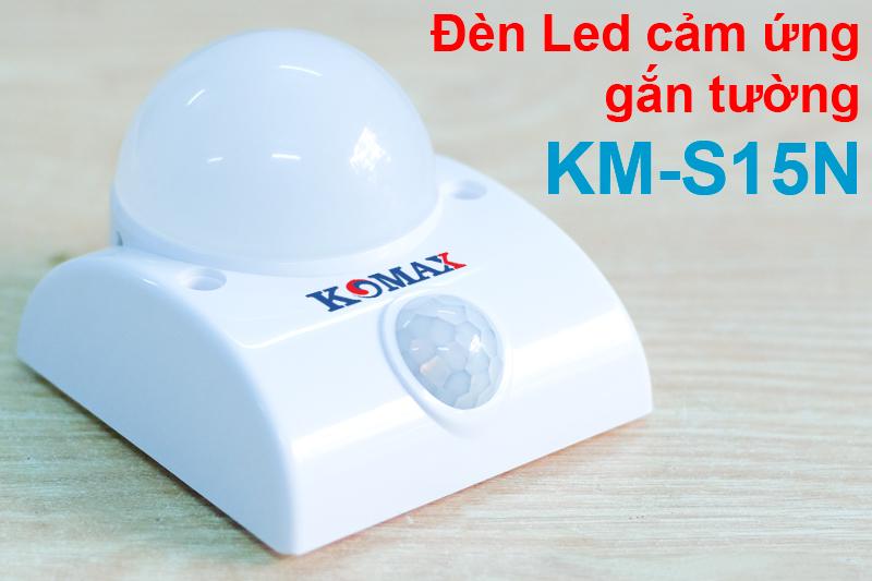 Đèn led cảm biến hồng ngoại KM-S15N phía trước