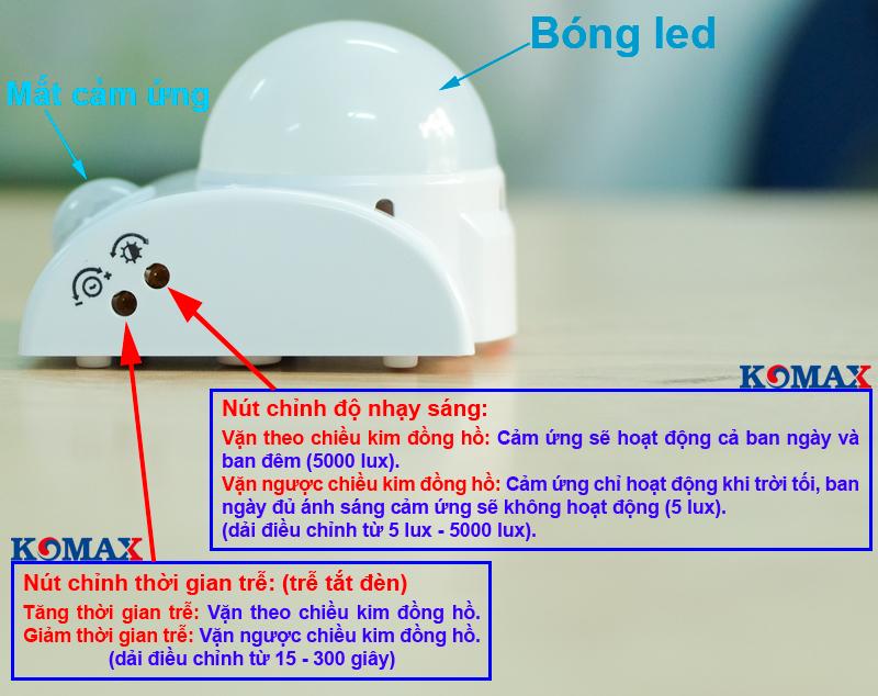 Cách sử dụng đui led cảm ứng hồng ngoại KM-S15N