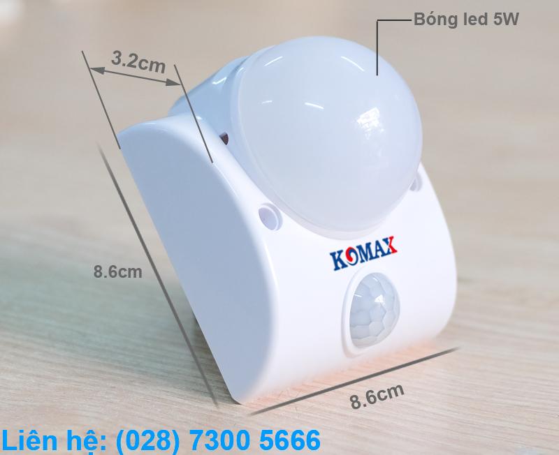 Kích thước của đèn led cảm ứng hồng ngoại KM-S15N