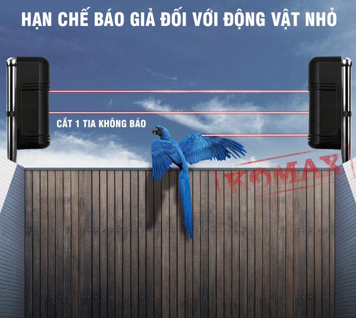 Do có 3 tia hồng ngoại nên hàng rào chống trộm không dây ABE-200W hạn chế tối đa khả năng báo giả