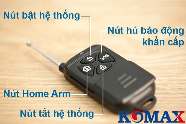 Remote dùng cho trung tâm chống trộm KM-998G