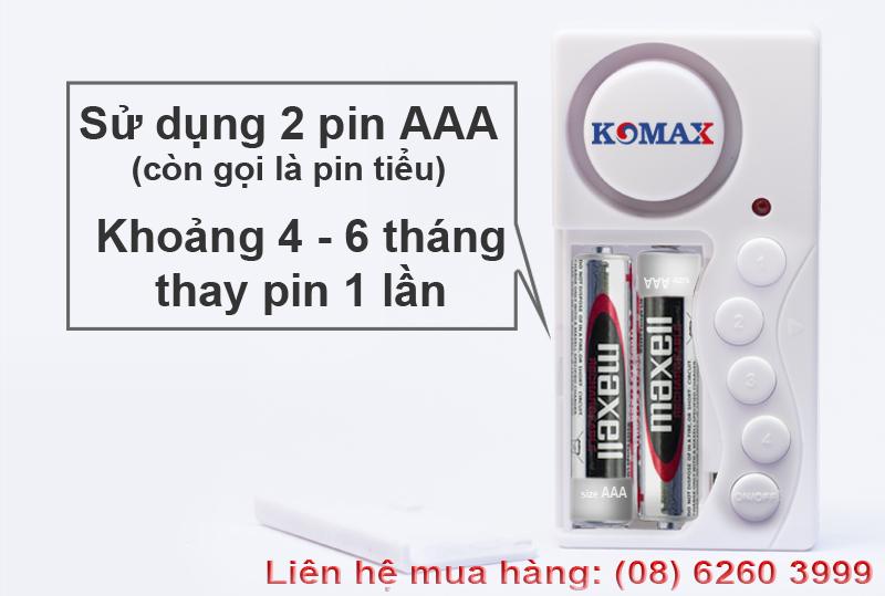 KM-C03 sử dụng pin tiểu AAA