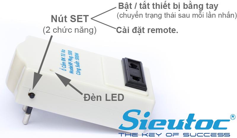 Cách cài đặt remote nhận ổ cắm