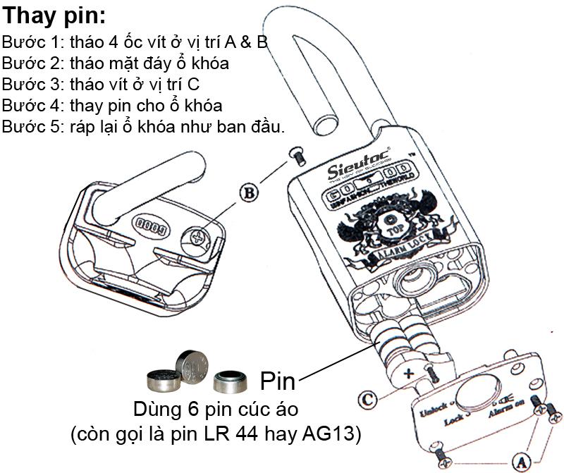 Cách thay pin cho AL-50